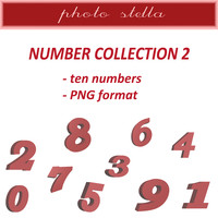Red numbers collection 2