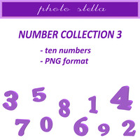 Purple numbers collection 3