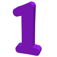 Purple number 1