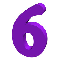 Purple number 6