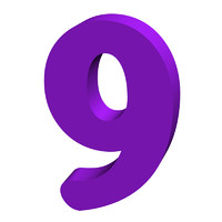 Purple number 9