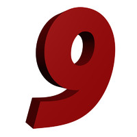 Red number 9