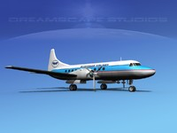 propellers convair 340 airlines 3ds