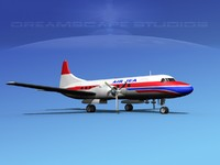 3d propellers convair 340 model