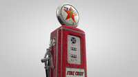 3d old gas pump rusty model