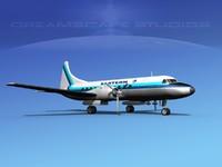 propellers convair 340 airlines 3d model