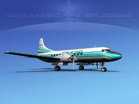 3d general convair 340 charter model