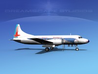 3d model propellers convair 340