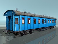 3d passenger rail car