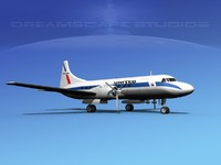 3d propellers convair 340 airlines