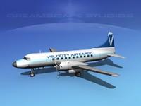 propellers convair 340 cargo 3d dxf
