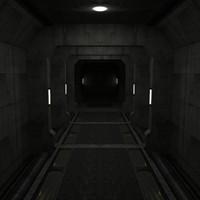 corridor set 3d model