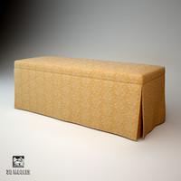 halley padded stool 3d model