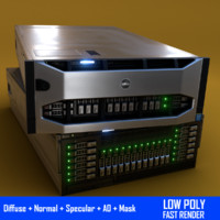 3d model dell server power r920