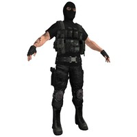 paramilitary soldier 3d model