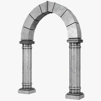 3d archway arch