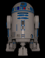 3d model droid astromech r2 unit