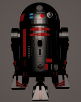 droid astromech r2 unit 3d model