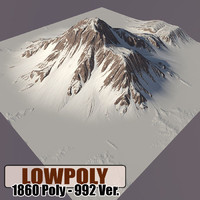 snowy mountain 3d c4d