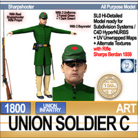 c4d civil war union soldier
