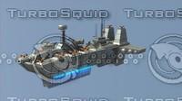 3ds max sci-fi battleship