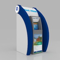 3d model bank atm kiosk design