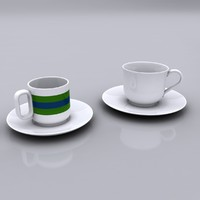 3d turkish coffee cup