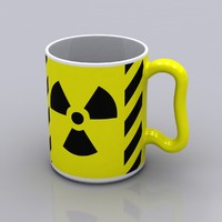 radioactive coffee mug 3d model