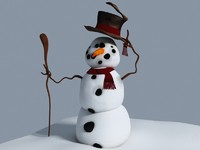 3d model of snowman new years