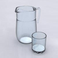 3d pitcher glass model