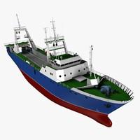 3d stern trawler