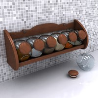 3d model of spice wood
