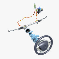 3d model car steering