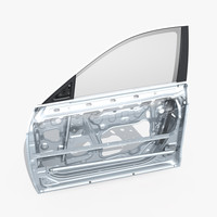 3d model car door structure 01