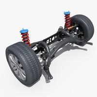 3d car suspension 02 model
