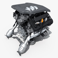 car engine v6 3d model