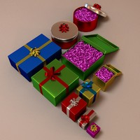 3d model of gift presents