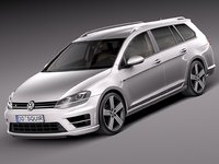2015 volkswagen golf 3d 3ds