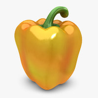 realistic pepper orange mix 3d model