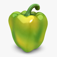 realistic pepper green mix 3d model