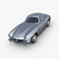 3d model of mercedes-benz 300sl