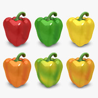 realistic pepper set 3d max