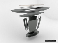 according dining table 3d model