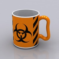 3d model hazardous coffee mug