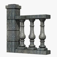 3ds baluster