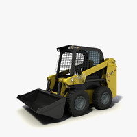 skid-steer loader cams 650 3d max