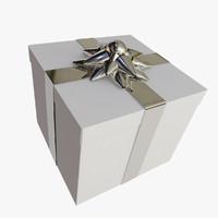 gift cadeau 3d model