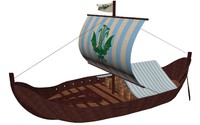 3d model viking cargo ship knorr