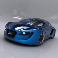 concept car audi rsq 3d 3ds