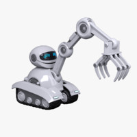 3d model robot character loader